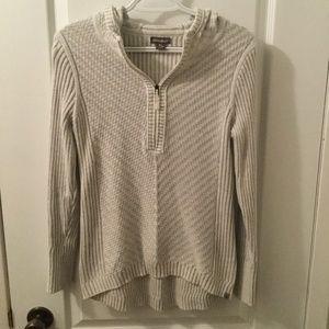 Eddie Bauer 1/4 zip hooded sweater